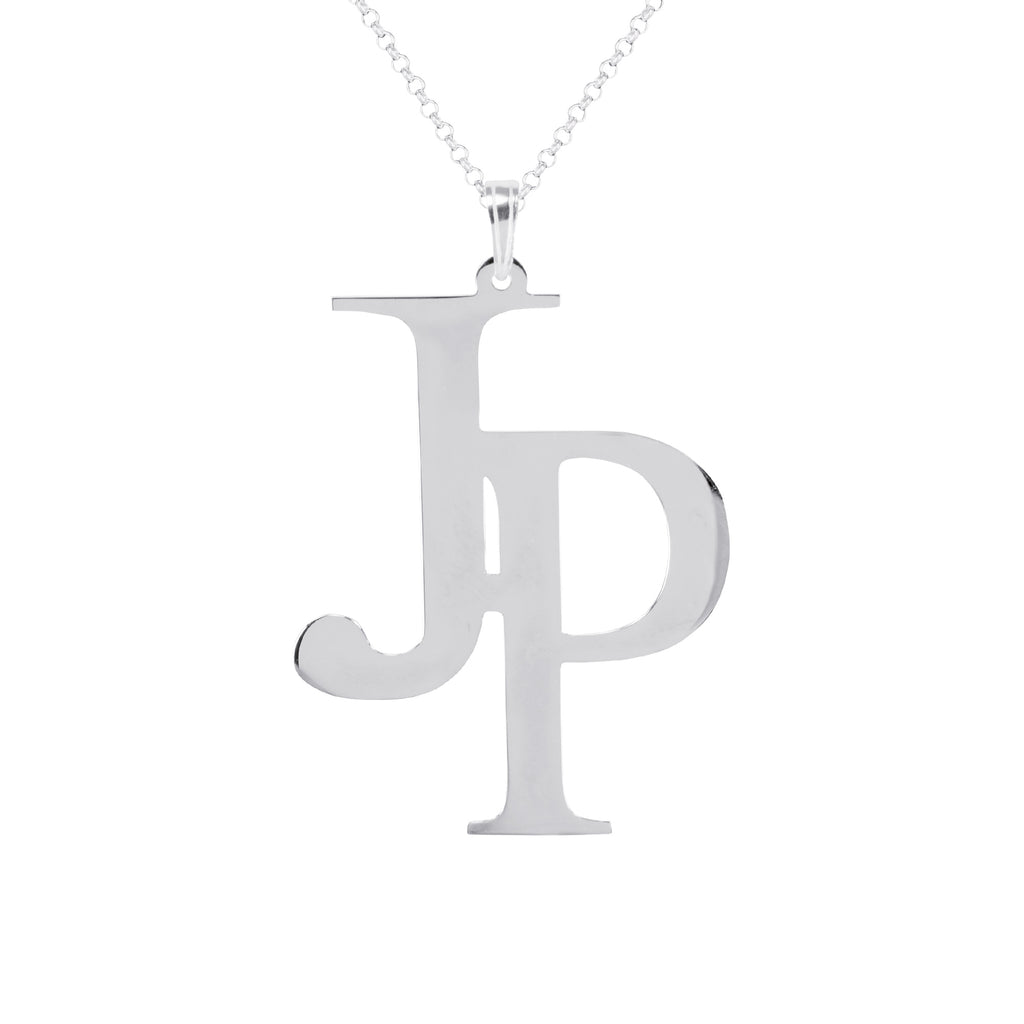 Celebrity Style Offset Monogram with 18 in Chain