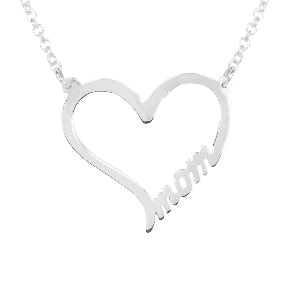 "Tailored ""MOM"" Heart Necklace"