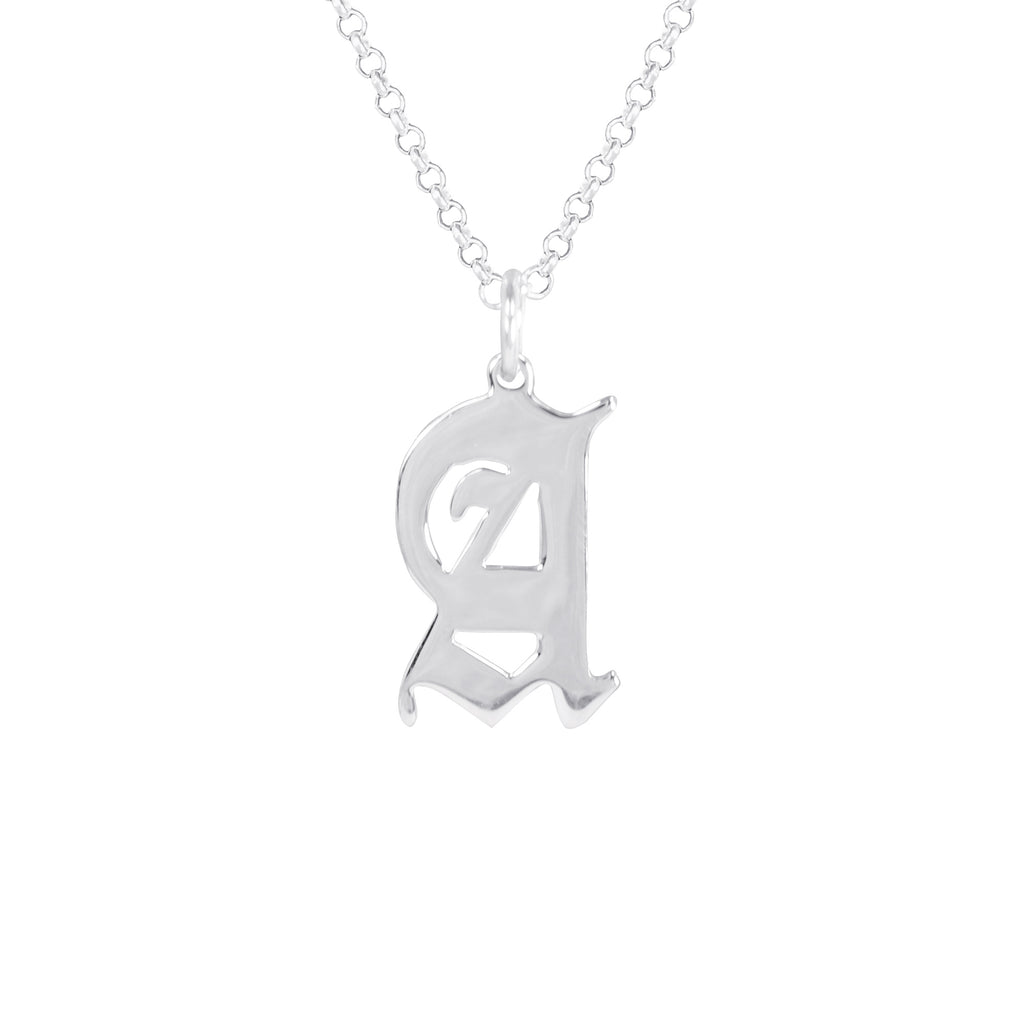 Roman Initial Necklace