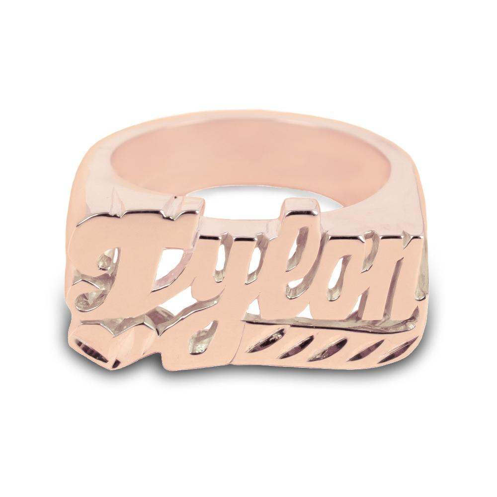 14K rose_gold plated sterling silver-dynamic-personalized-name-ring