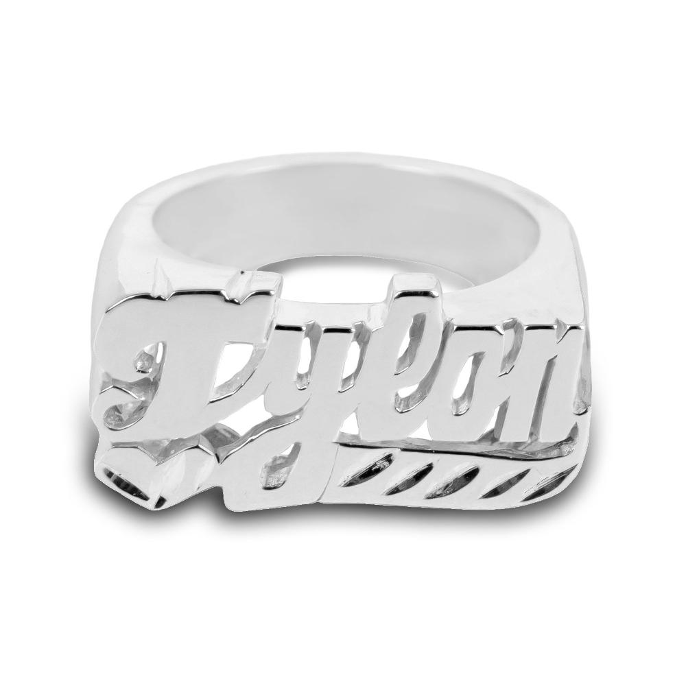 sterling silver dynamic personalized name ring