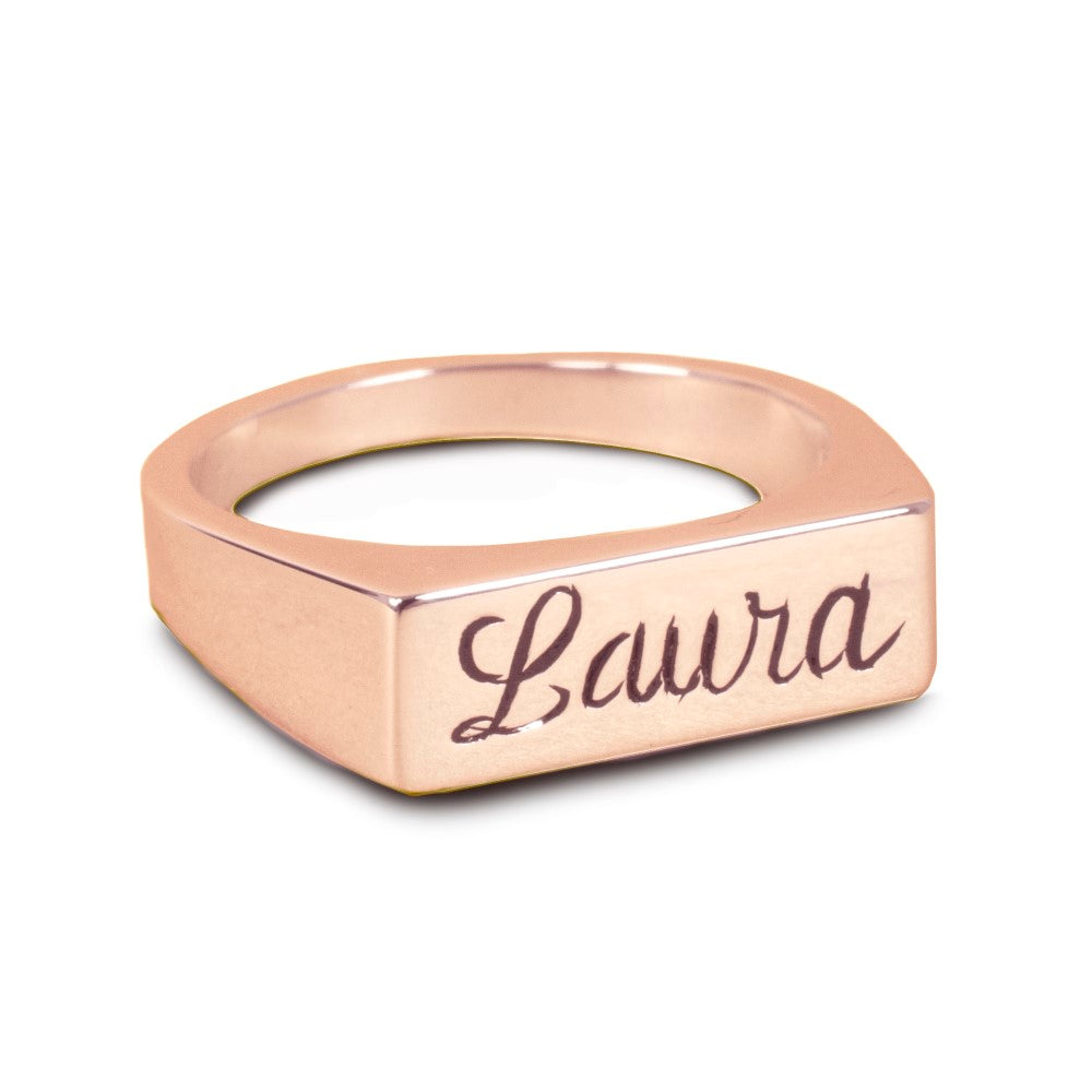 24k rose gold plated sterling silver name necklace
