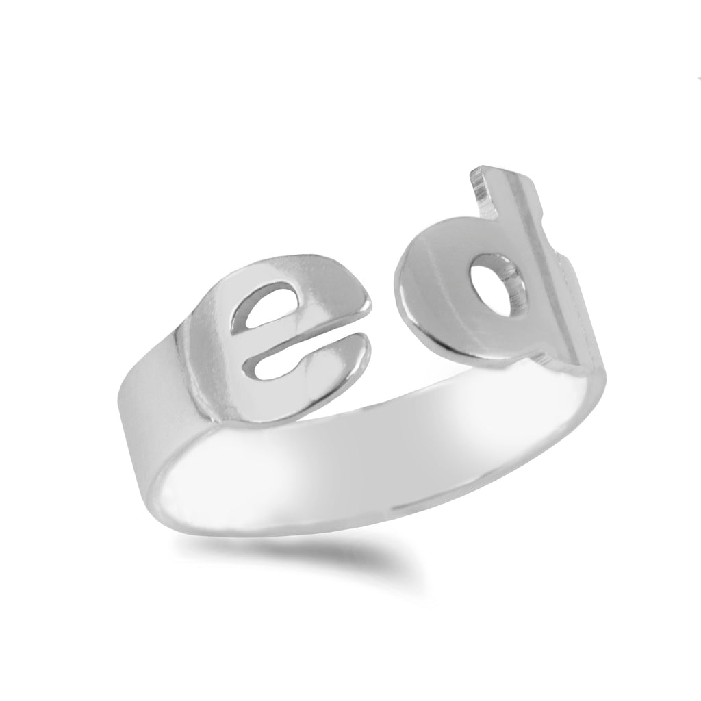 Personalized Initial Band Ring