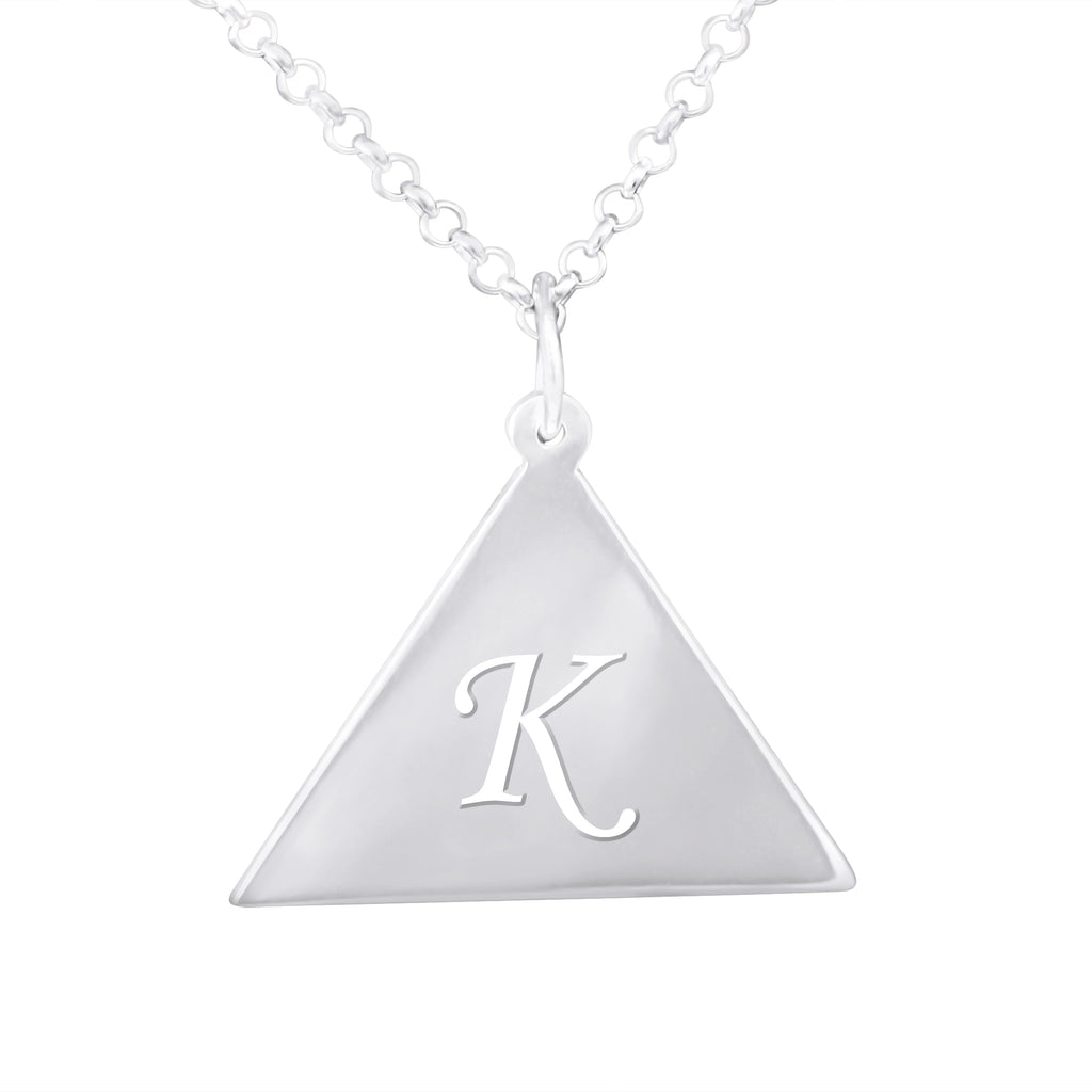 Triangle Shaped Cut Out Initial