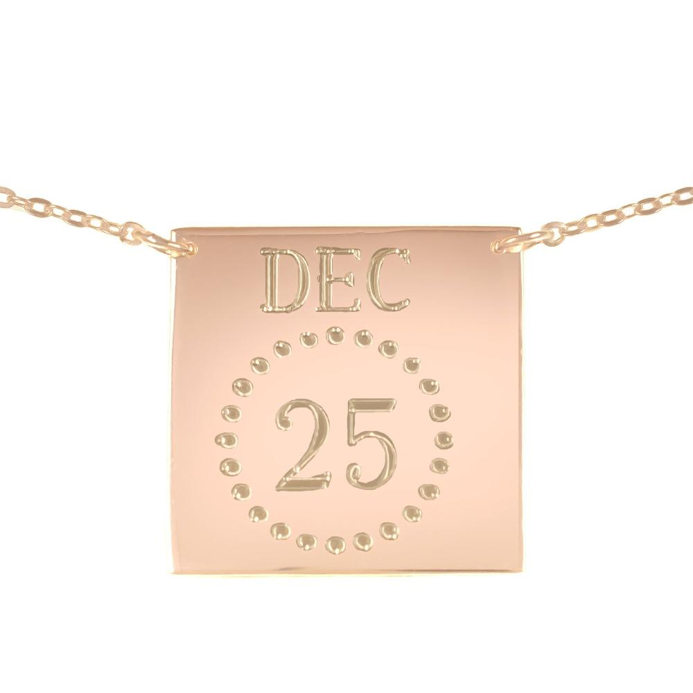 24k rose_gold plated sterling silver-personalized-calendar-necklace