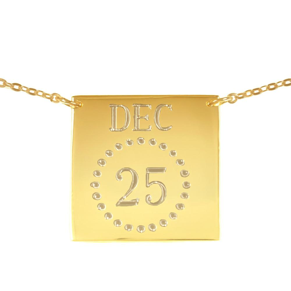 14K gold plated sterling silver-personalized-calendar-necklace