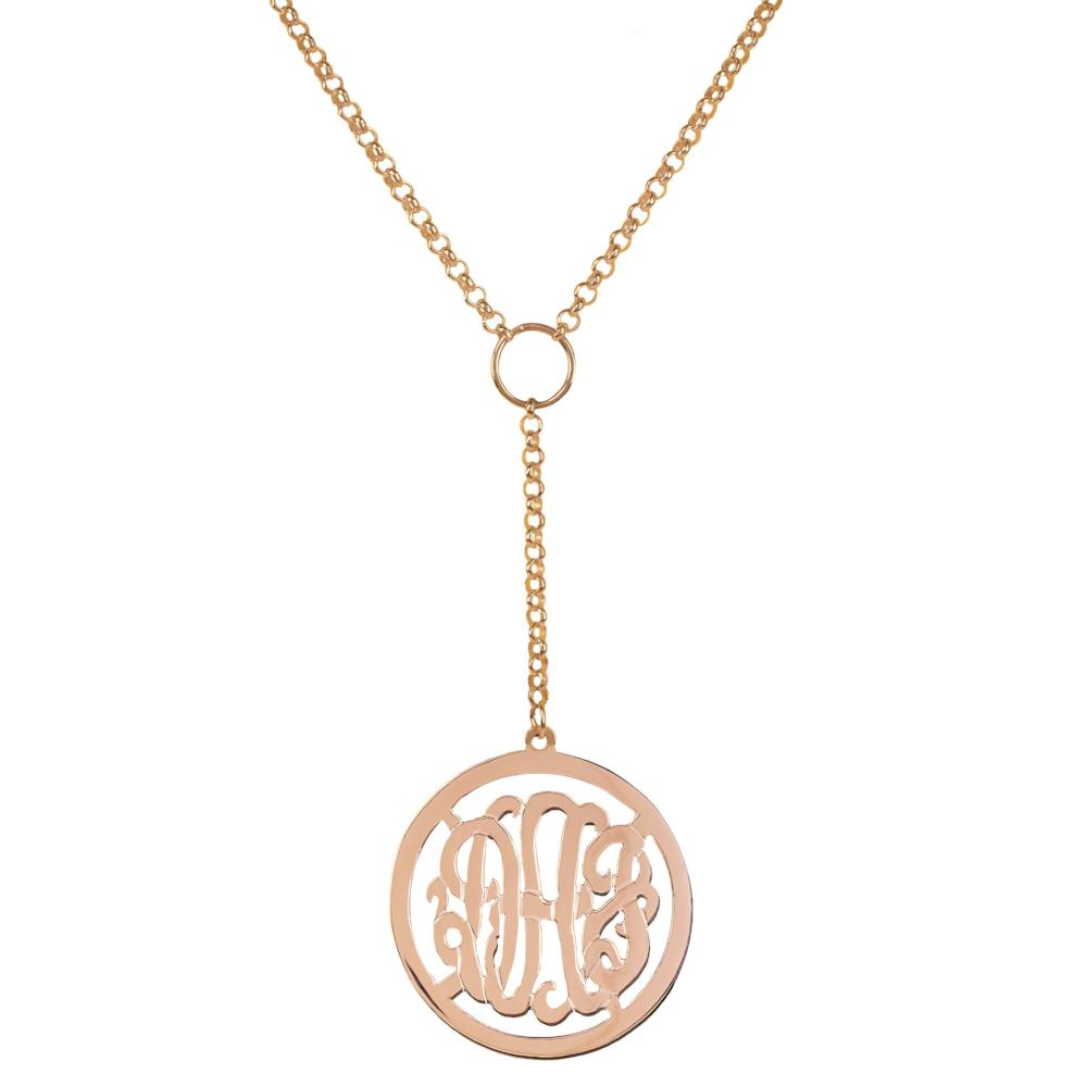 14K rose_gold plated sterling silver-personalized-drop-monogram-necklace
