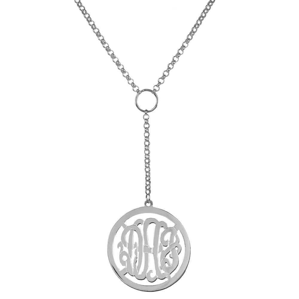 sterling silver drop-monogram-necklace