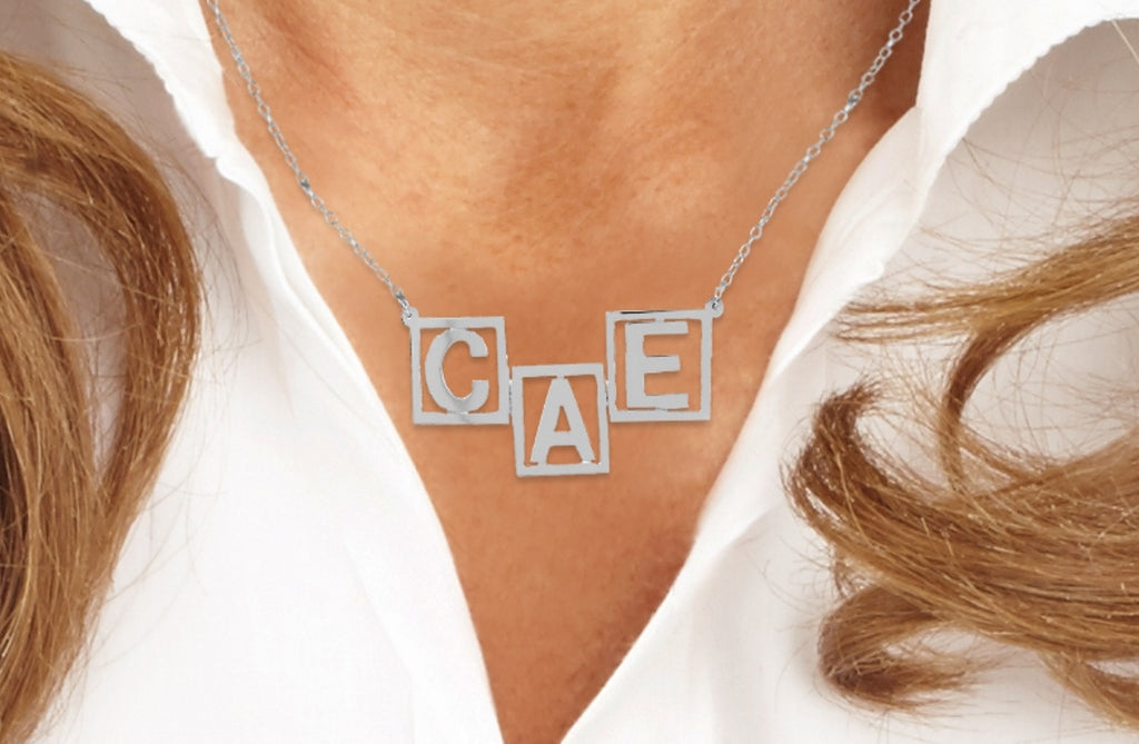 Personalized Initials Family Name Necklace