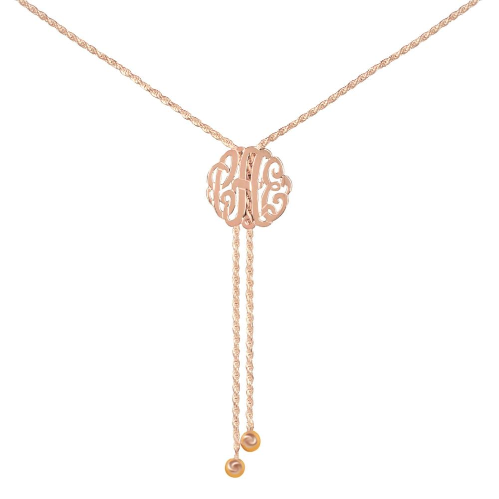 24k rose_gold plated sterling silver-lariat-monogram-necklace-medium