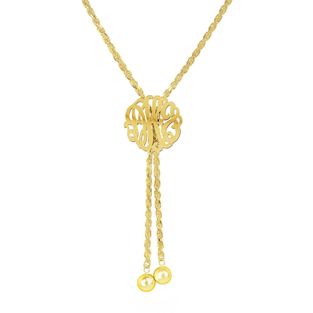 14K gold plated sterling silver-lariat-monogram-necklace-large
