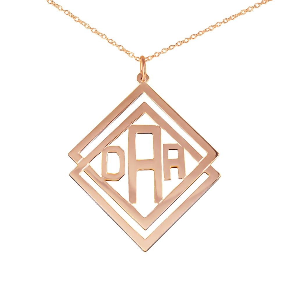 14K rose_gold plated sterling silver-social-society-monogram-necklace
