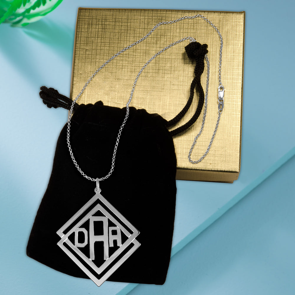 Social Society Monogram Necklace