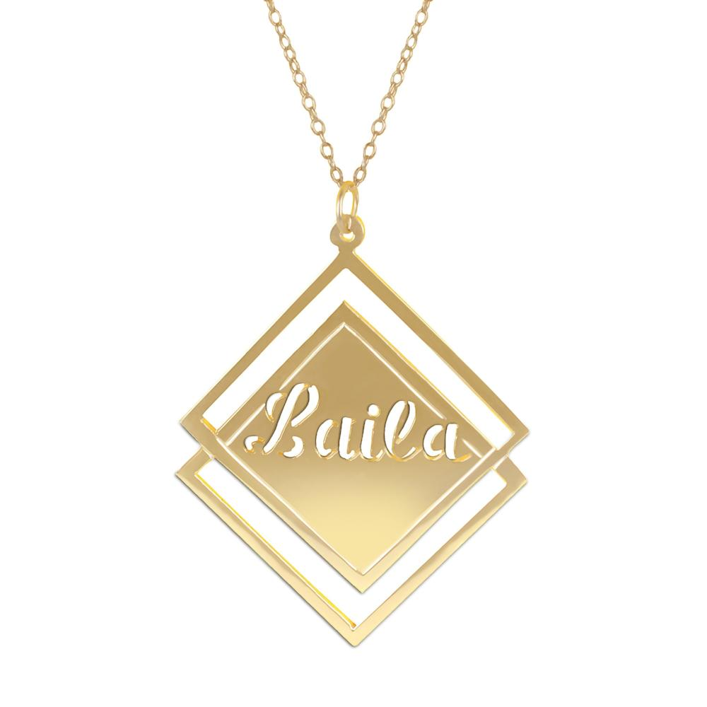 14K gold plated sterling silver-social-society-full-name-necklace