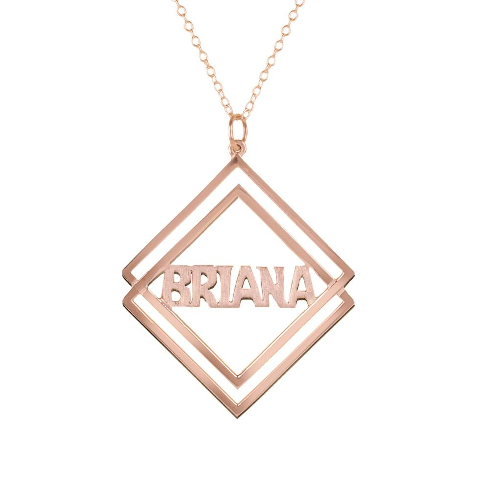14K rose_gold plated sterling silver-social-society-block-name-necklace