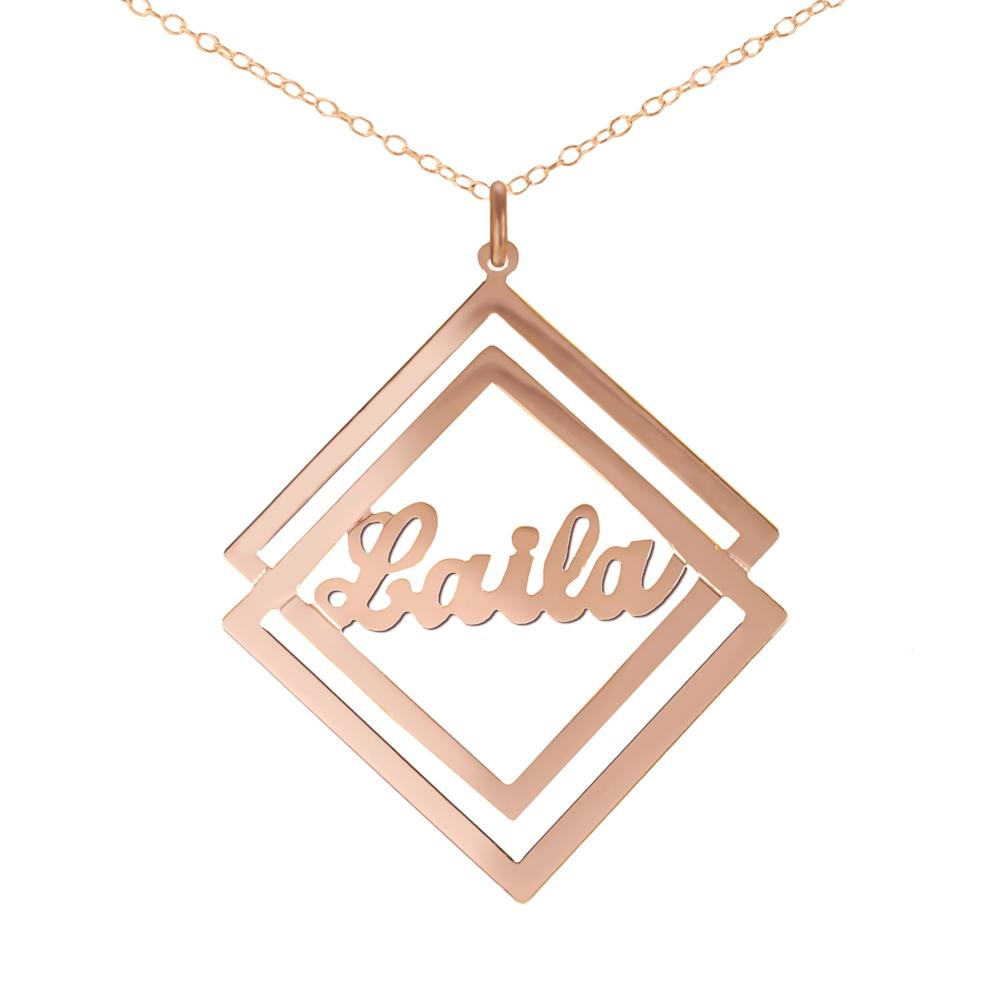 14K rose_gold plated sterling silver-social-society-script-name-necklace