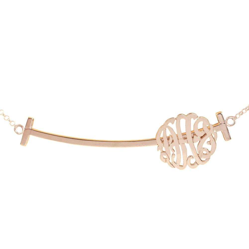 24k rose_gold plated sterling silver-sliding-bar-monogram-necklace-right