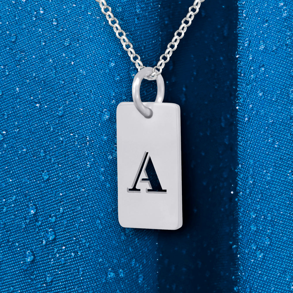 Personalized Tag Necklace with Initial