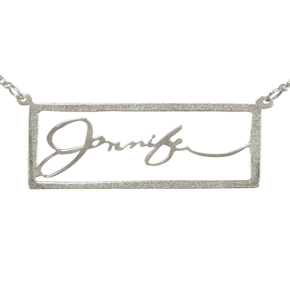 Sterling Silver Signature Name Necklace