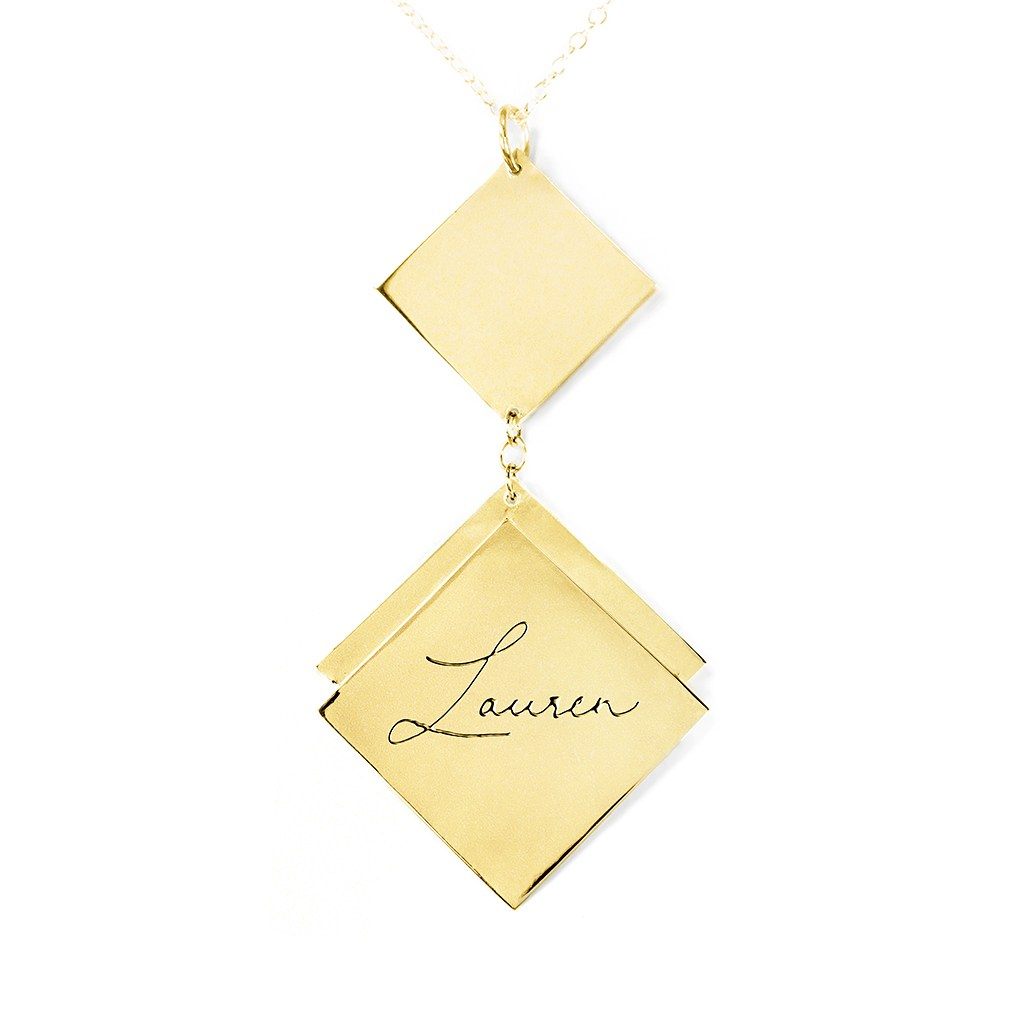 24k gold plated sterling silver name necklace