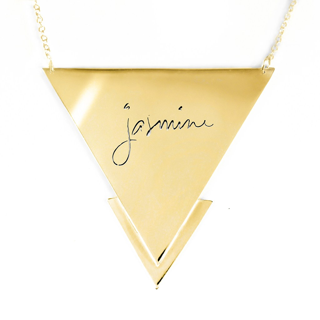 14K gold plated sterling silver name necklace
