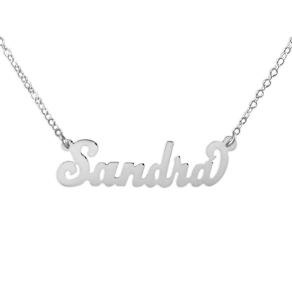 sterling silver carrie name necklace