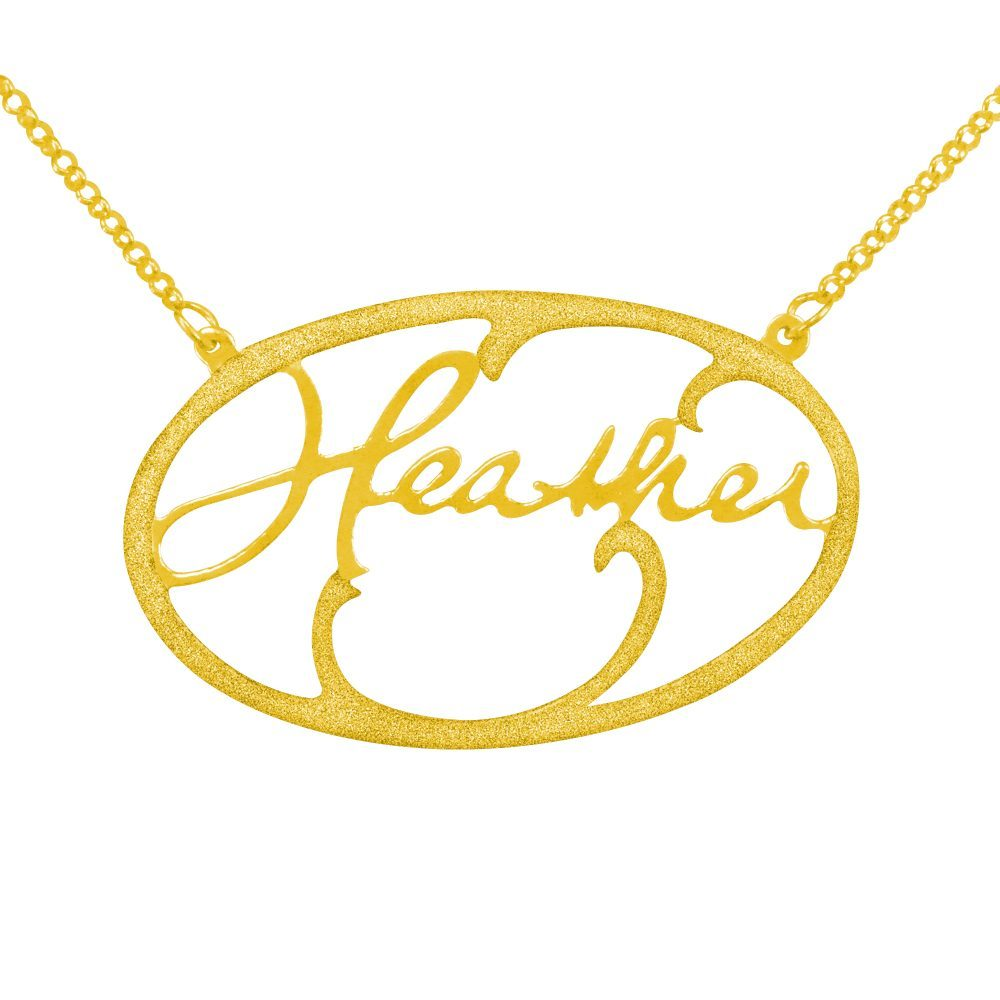 14K gold plated sterling silver handwritten-signature-hollow-name-necklace
