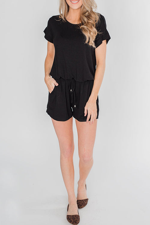 Zeefulgal Drawstring Loose One-piece Rompers (4 colors)