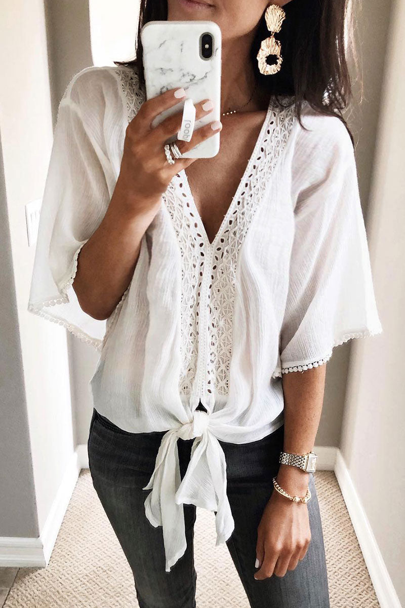 Zeefulgal Knot And Tassel Design Shirts