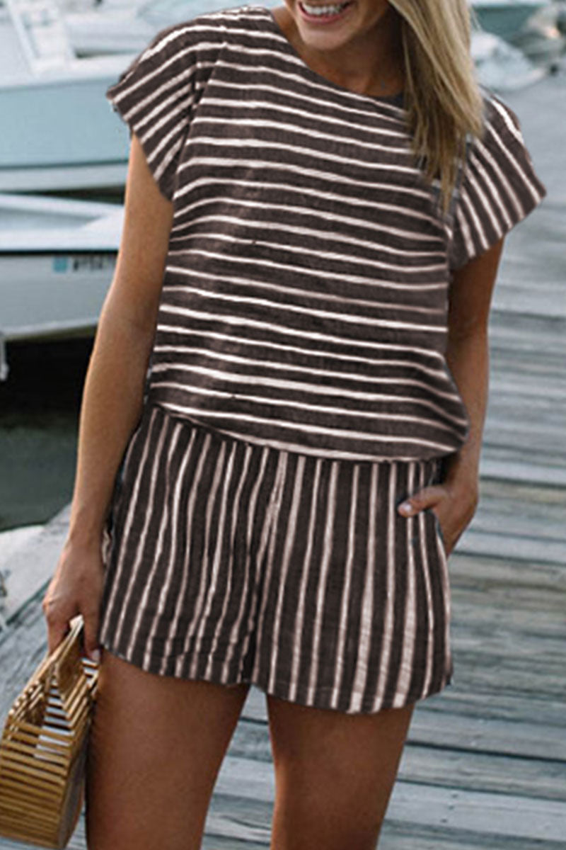 Zeefulgal Striped Loose Rompers (3 colors)