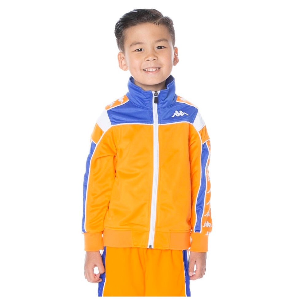 Kappa 222 BANDA MEREZ SLIM TRACK JACKET ORANGE BLUE