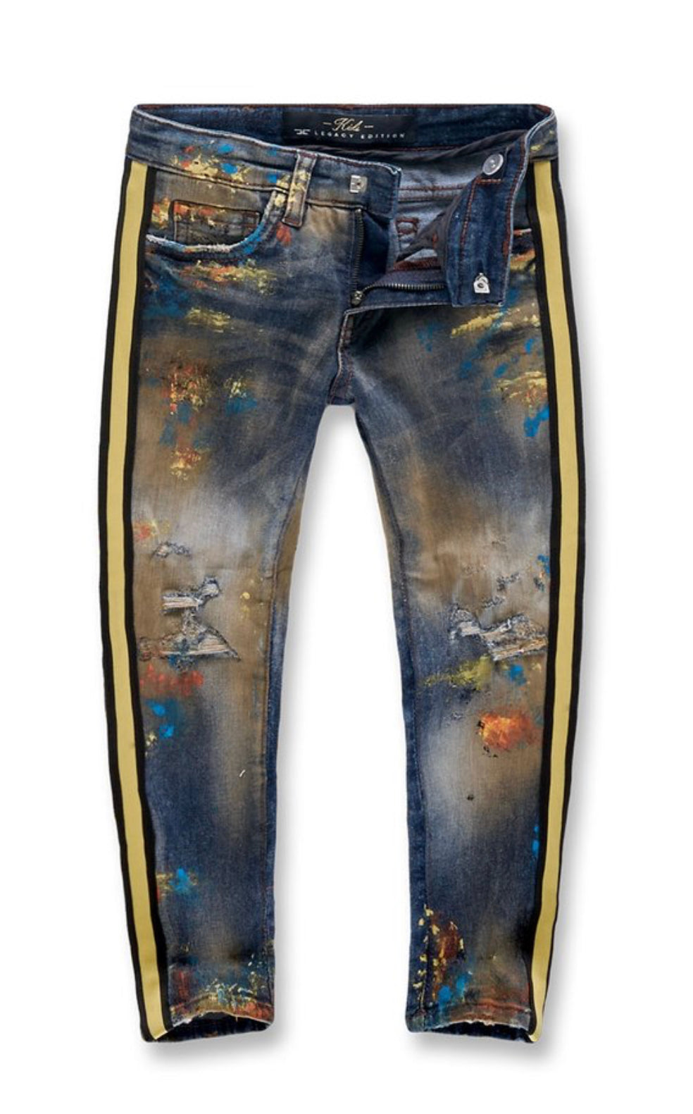 Jordan Craig KIDS TALLADEGA STRIPED DENIM (BURNING MAN)