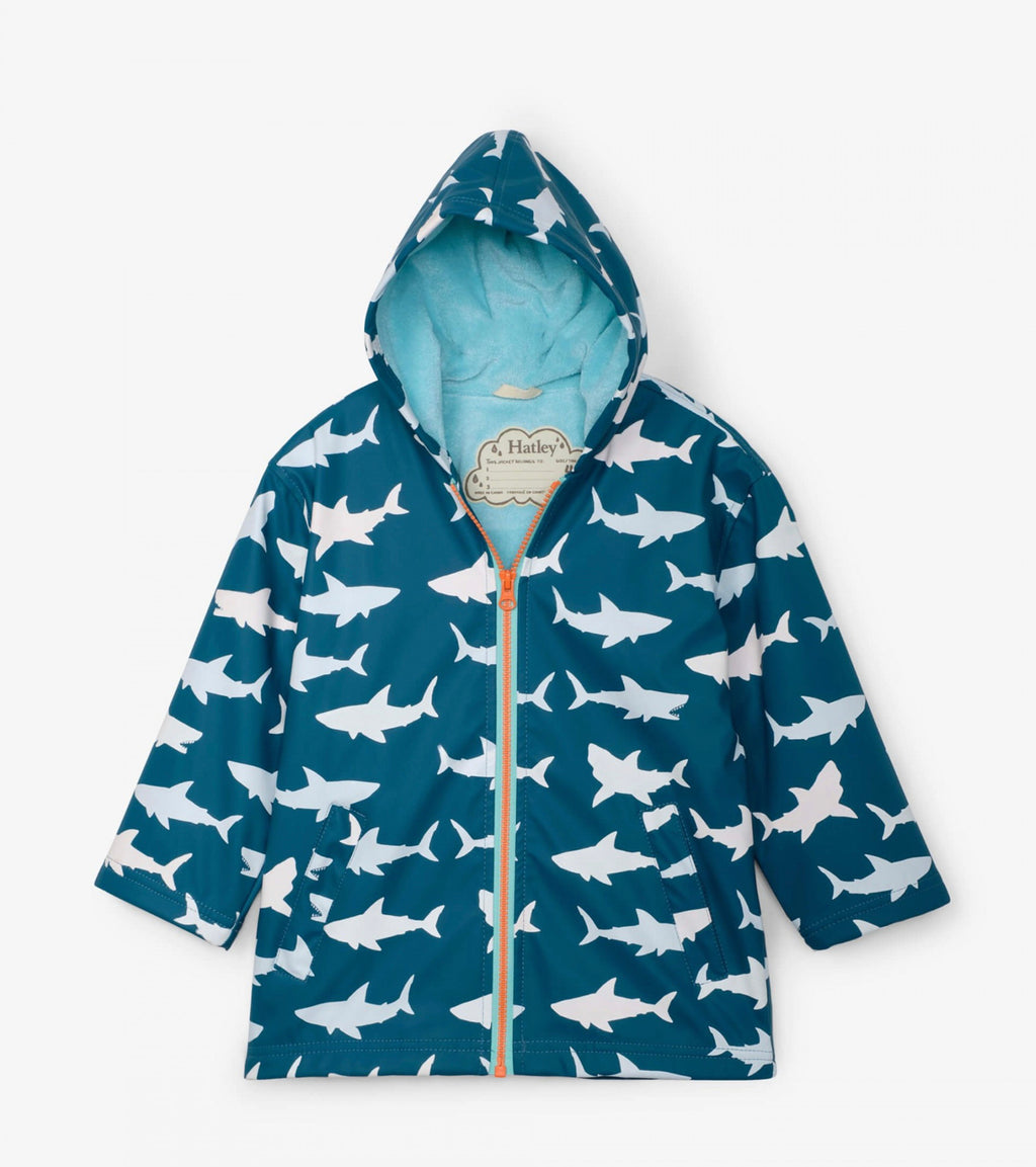 Hatley-Great White Shark Color Changing Splash Jacket