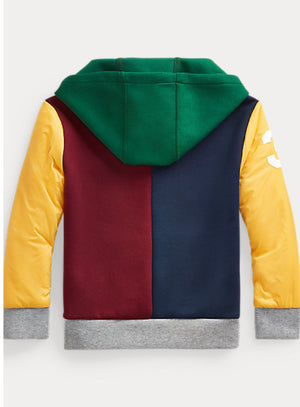 Ralph Lauren Polo Color-Blocked Hybrid Hoodie