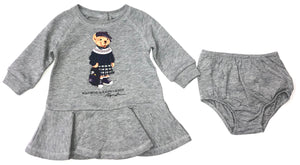 Ralph Lauren Grey Polo Bear 2 Piece Dress
