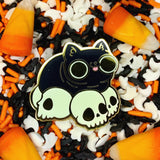 Skull Cat Loaf hard enamel pin