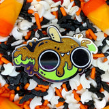 Caramel Apple Bat hard enamel pin