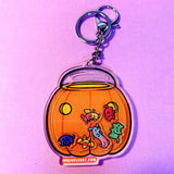 Candy Bucket Shaker Keychain