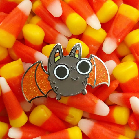 Candy Corn Bat enamel pin