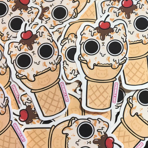 Ice Cream Kitty Sticker