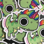 Trex Unicorn Sticker