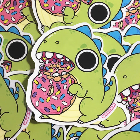 Donut Dino Chomp Sticker