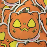 Cat-O-Lantern Sticker