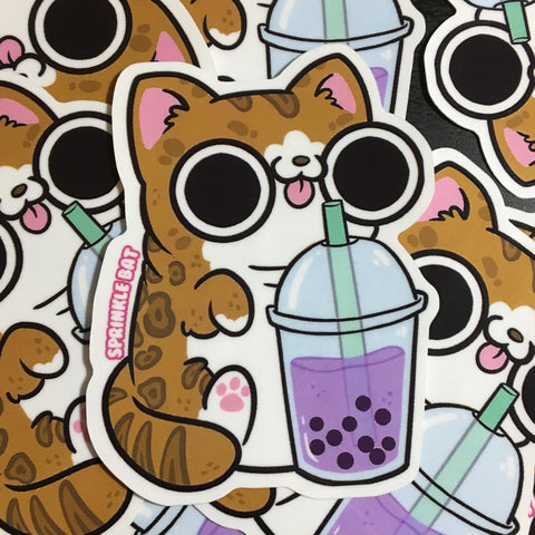 Bubble Tea Kitty Sticker