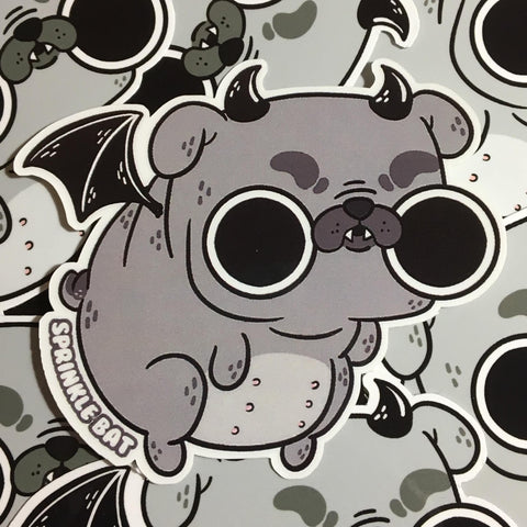 Bat Pug Sticker