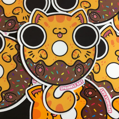 Chocolate Moose Donut Sticker