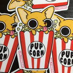 Pupcorn Sticker
