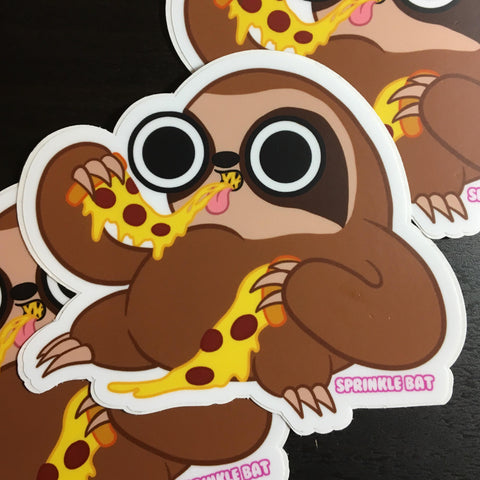 Pizza Sloth Sticker