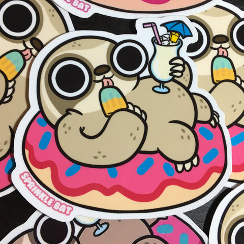 Summer Time Sloth Sticker