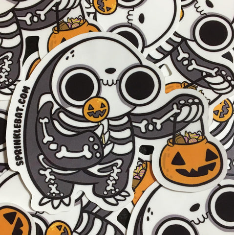 Skeleton Sloth Sticker